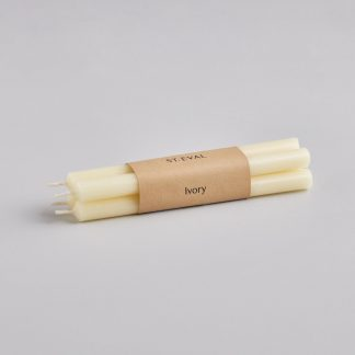 """Ivory 1/2""""x 6"""" Candles"""