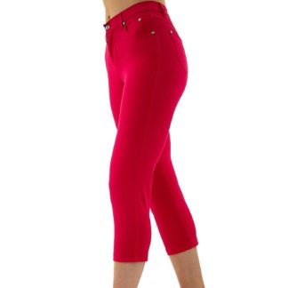 Marble 2401 Cropped Jeans Red