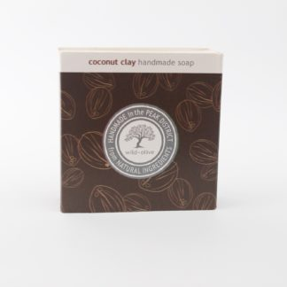 Coconut Clay Handmade soap packaging